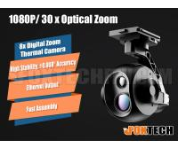 Foxtech EH640 30x Optical Zoom IR Thermal Camera with 3-axis Gimbal