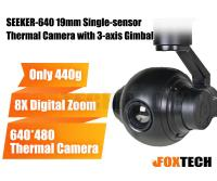SEEKER-640 19mm Single-sensor Thermal Camera with 3-axis Gimbal