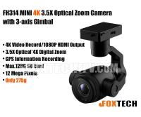FH314 MINI 4K 3.5X Optical Zoom Camera with 3-axis Gimbal