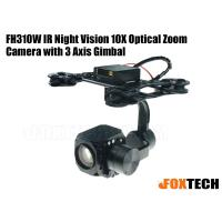 FH310W IR Night Vision 10X Optical Zoom Camera with 3 Axis Gimbal-Free Shipping