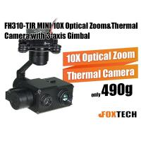 FH310-TIR MINI 10X Optical Zoom and Thermal Camera with 3-axis Gimbal-Free Shipping