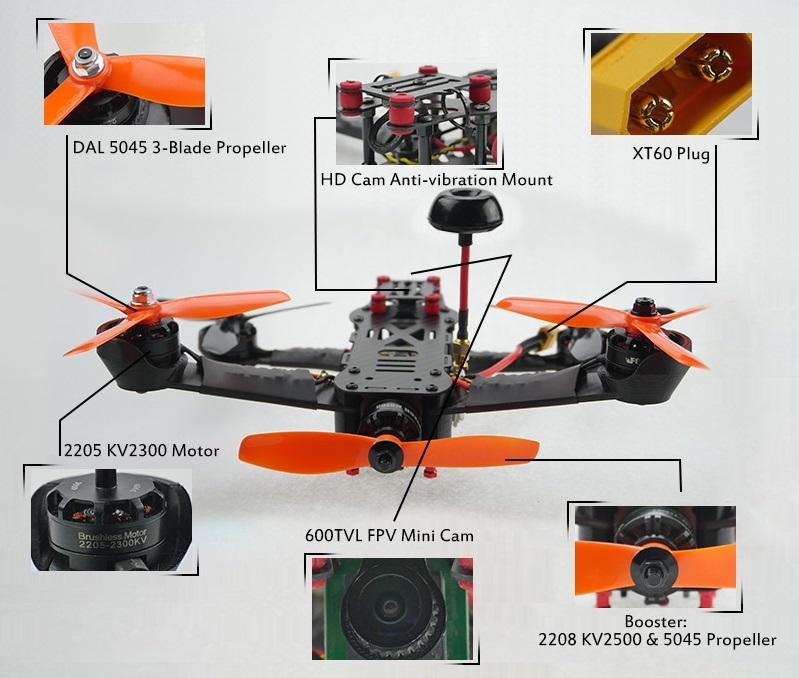 Foxtech Screamer 250 Pentacopter 2