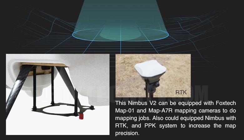 Foxtech Nimbus VTOL V2 for Mapping and Survey(X9D Combo)