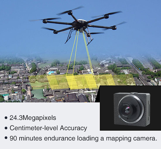 Mapping solution: Drainage System Preliminary Planning by GAIA 160S Hexacopter with Map-01 Mapping camera